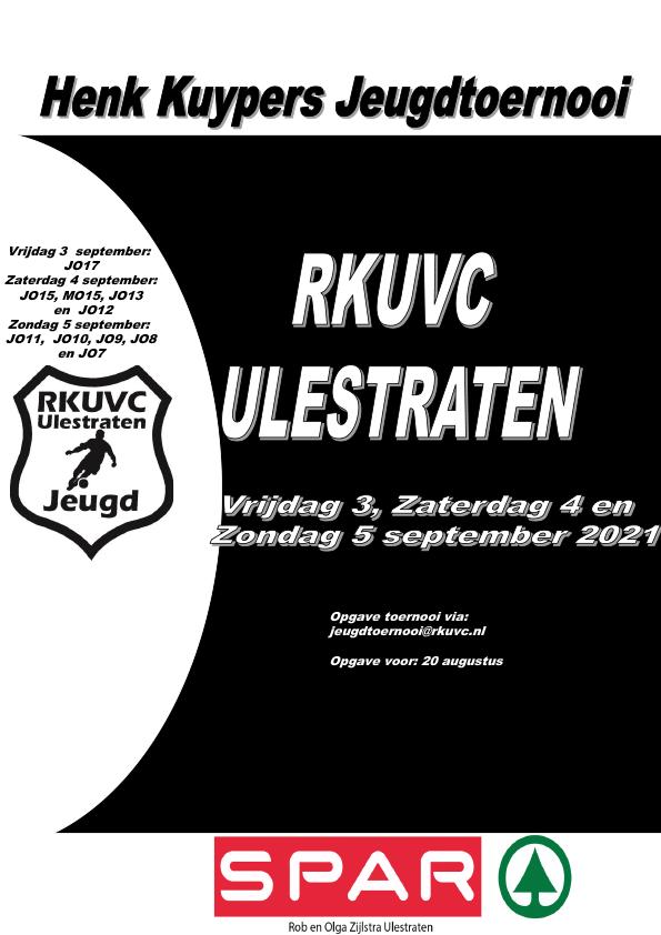 47e RKUVC Henk Kuypers Jeugdtoernooi groot succes